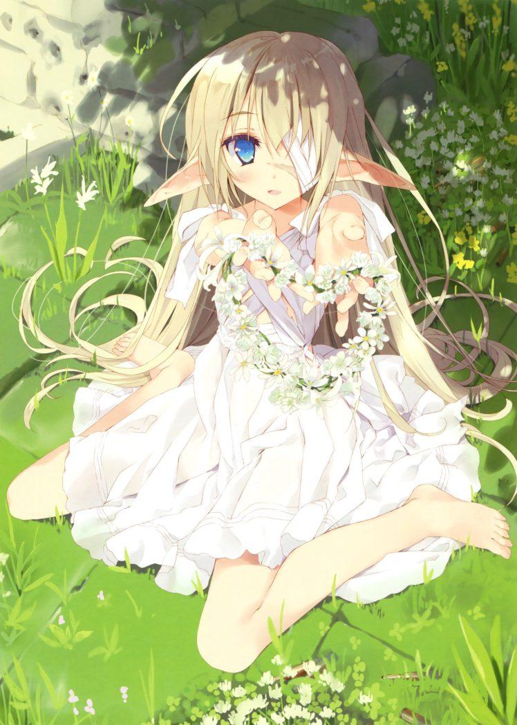 anime girls, Elves, Dress, Original characters HD Wallpaper Desktop Background
