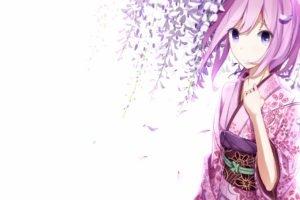 anime girls, Kimono, Traditional clothing, Vocaloid, Megurine Luka