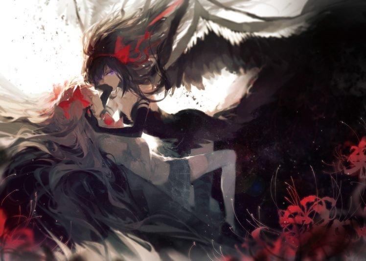 Mahou Shoujo Madoka Magica, Kaname Madoka, Akemi Homura, Anime girls HD Wallpaper Desktop Background