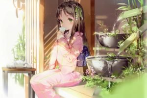 kimono, Traditional clothing, Anime girls, Tea, Original characters