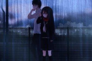 couple, Rain