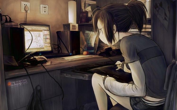 original characters, Anime girls HD Wallpaper Desktop Background