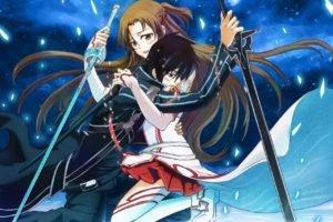 Sword Art Online, Yuuki Asuna, Kirigaya Kazuto, Anime