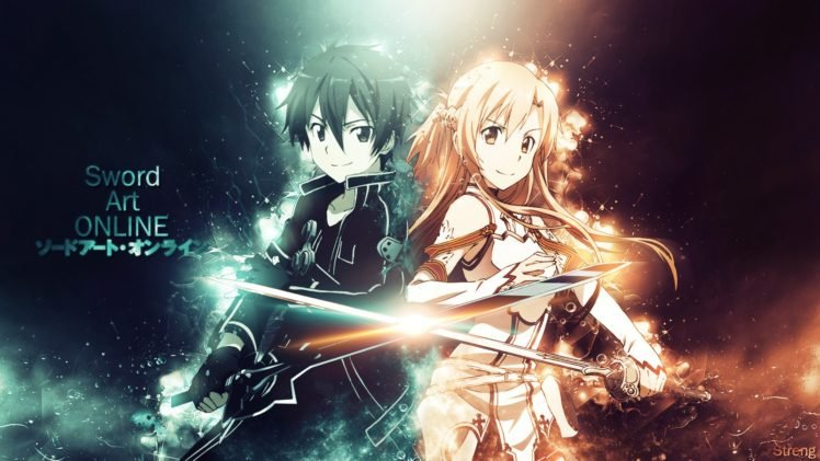 Sword Art Online, Yuuki Asuna, Kirigaya Kazuto HD Wallpaper Desktop Background