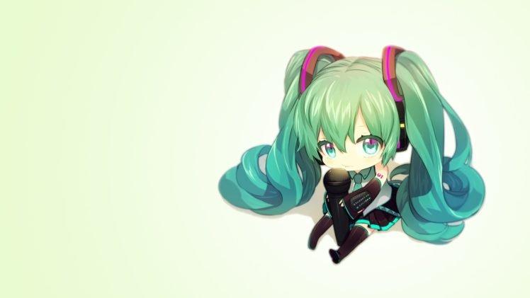 Hatsune Miku Chibi Vocaloid HD Wallpaper Desktop Background