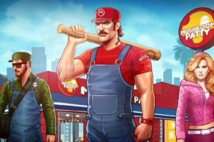 Super Mario, Crossover, Grand Theft Auto, Mario Bros., Princess Peach, Luigi, Mushroom