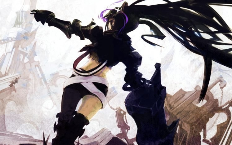 Black Rock Shooter, Anime girls, Anime, Insane Black Rock Shooter, Weapon HD Wallpaper Desktop Background
