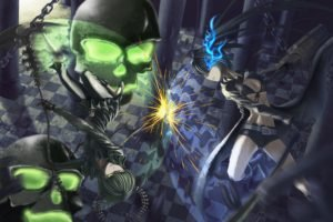 Black Rock Shooter, Anime girls, Anime, Weapon, Dead Master, Strength (Black Rock Shooter)