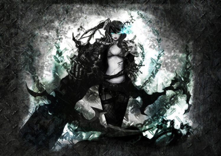 Black Rock Shooter, Anime girls, Anime, Weapon, Strength (Black Rock Shooter) HD Wallpaper Desktop Background