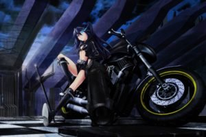 Black Rock Shooter, Anime girls, Anime, Weapon, Strength (Black Rock Shooter)