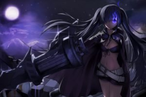 Black Rock Shooter, Anime girls, Anime, Weapon, Strength (Black Rock Shooter)