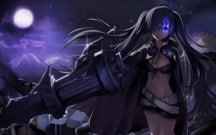 Black Rock Shooter Anime Girls Anime Weapon Strength