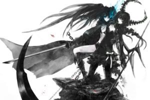 Black Rock Shooter, Anime girls, Anime, Dead Master, Strength (Black Rock Shooter)