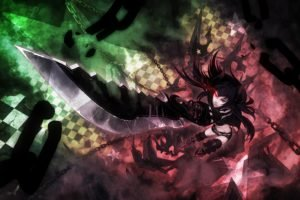 Black Rock Shooter, Anime girls, Anime, Black Gold Saw