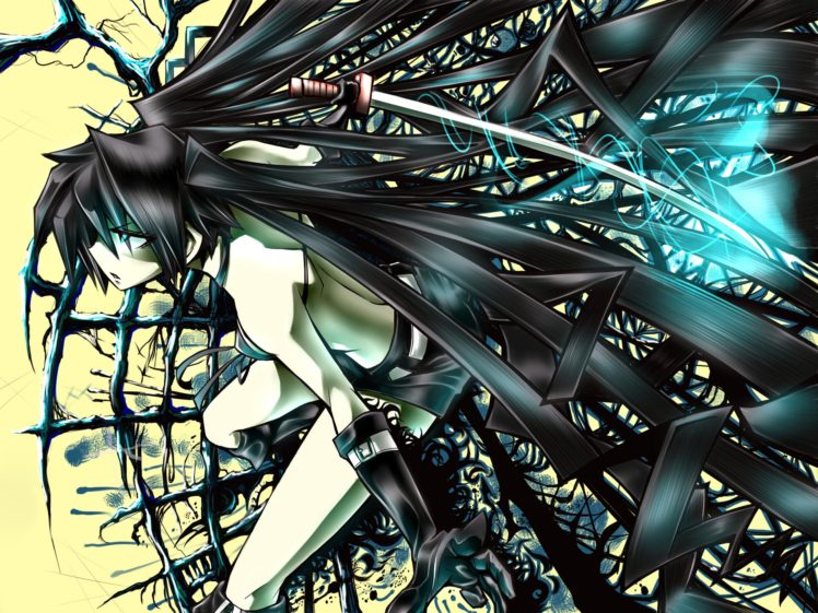 Black Rock Shooter, Anime girls, Anime HD Wallpaper Desktop Background