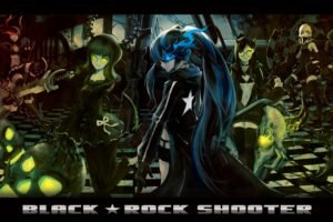 Black Rock Shooter, Anime girls, Anime, Dead Master, Black Gold Saw, Strength (Black Rock Shooter)