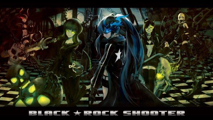 Black Rock Shooter, Anime girls, Anime, Dead Master, Black Gold Saw, Strength (Black Rock Shooter) HD Wallpaper Desktop Background