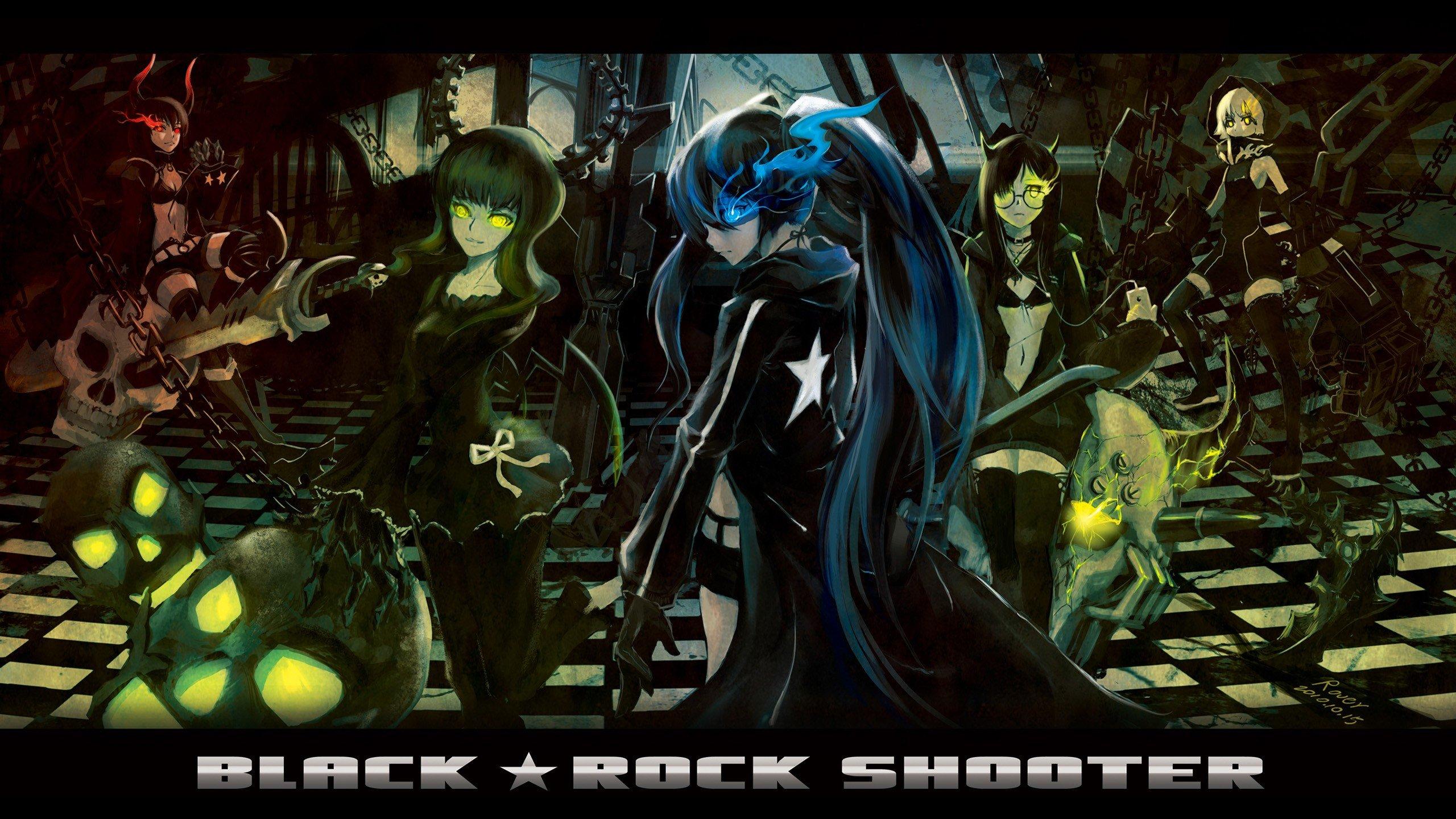 Black Rock Shooter Anime Girls Anime Dead Master Black Gold