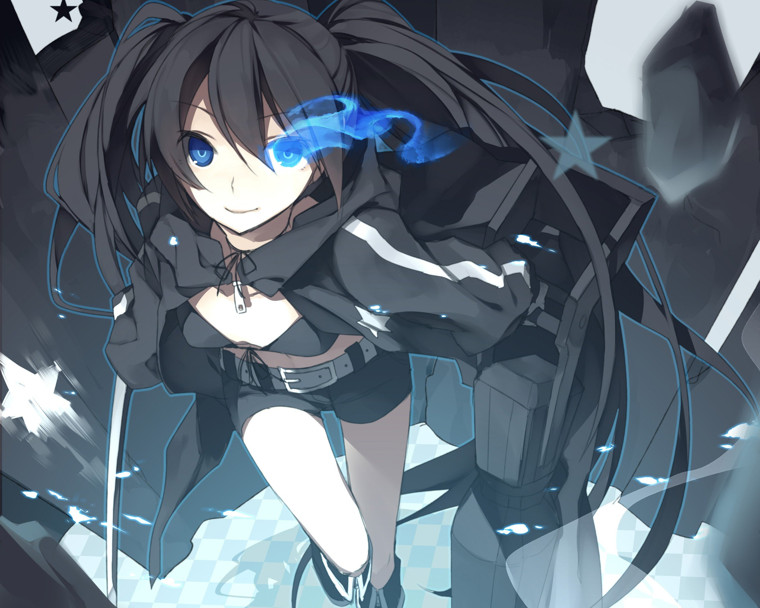 Black Rock Shooter, Anime Girls, Anime, Strength Black -2896