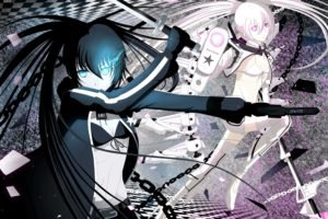Black Rock Shooter, Anime girls, Anime, White Rock Shooter, Strength (Black Rock Shooter)