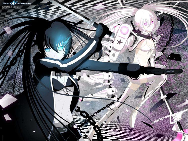 Black Rock Shooter, Anime girls, Anime, White Rock Shooter, Strength (Black Rock Shooter) HD Wallpaper Desktop Background