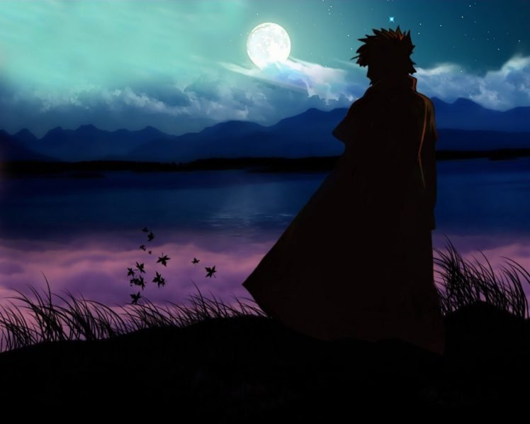 Naruto Shippuuden, Manga, Anime, Namikaze Minato, Silhouette HD Wallpaper Desktop Background