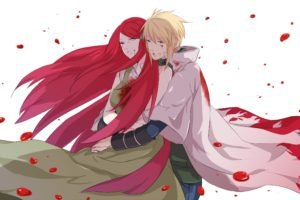 Naruto Shippuuden, Anime, Manga, Namikaze Minato, Uzumaki Kushina, Wounds, Blood, Hokage