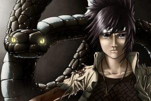 Naruto Shippuuden, Manga, Anime, Snake, Glowing eyes, Orochimaru