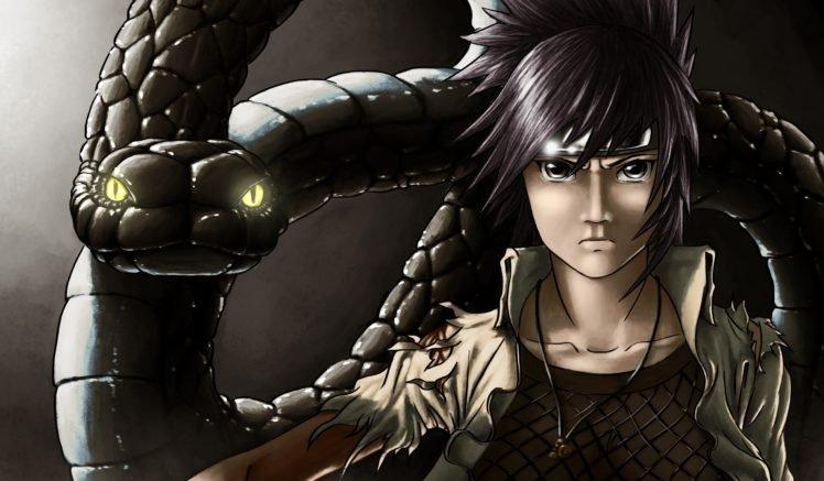 Naruto Shippuuden, Manga, Anime, Snake, Glowing eyes, Orochimaru HD Wallpaper Desktop Background