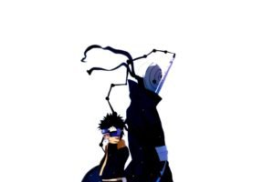 Naruto Shippuuden, Manga, Anime, Tobi, Uchiha Obito, White background