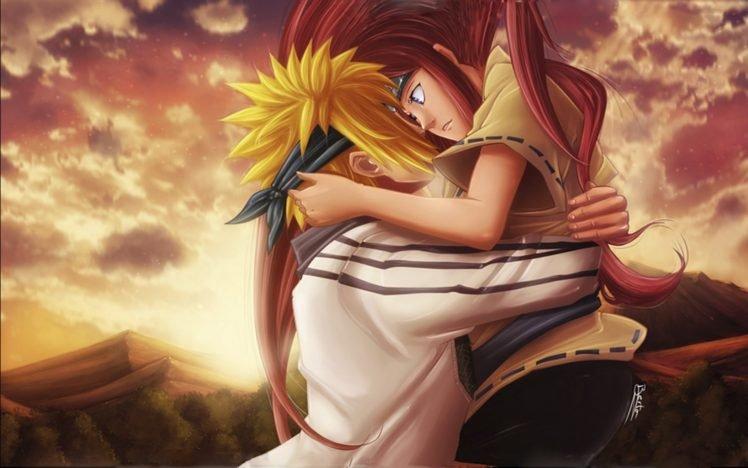 Naruto Shippuuden, Manga, Anime, Namikaze Minato, Uzumaki Kushina, Lovers HD Wallpaper Desktop Background