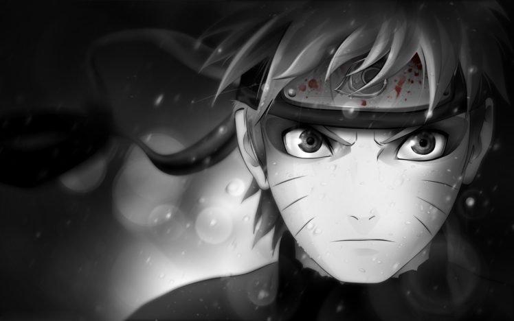 Naruto Shippuuden, Manga, Anime, Uzumaki Naruto, Selective coloring HD Wallpaper Desktop Background