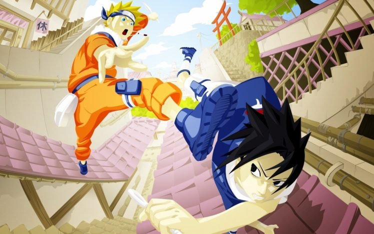 Naruto Shippuuden, Manga, Anime, Uzumaki Naruto, Uchiha Sasuke HD Wallpaper Desktop Background