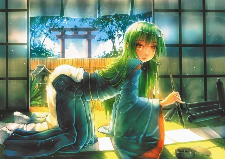 Touhou, Anime girls, Anime, Kochiya Sanae HD Wallpaper Desktop Background