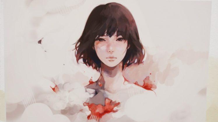 women, Face, Artwork HD Wallpaper Desktop Background