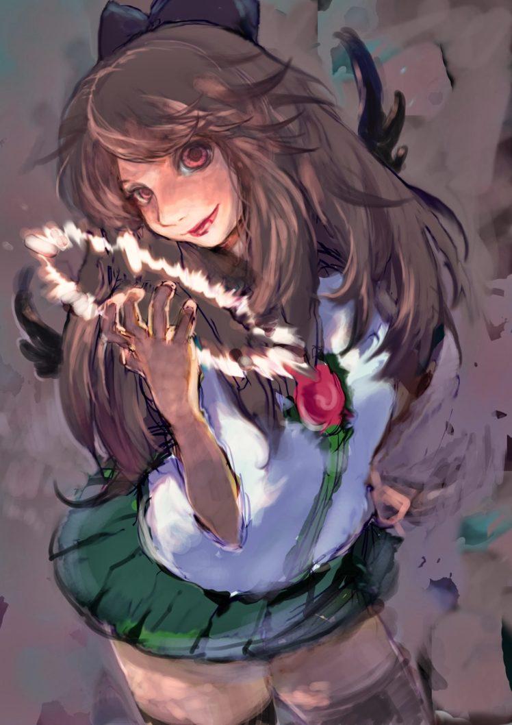 anime girls, Touhou, Reiuji Utsuho HD Wallpaper Desktop Background