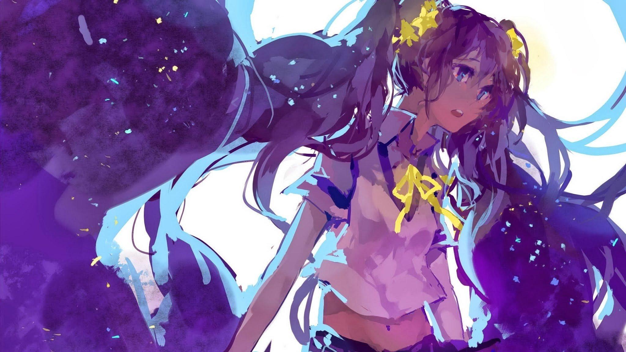 anime girls, Twintails, Vocaloid, Hatsune Miku HD ...
