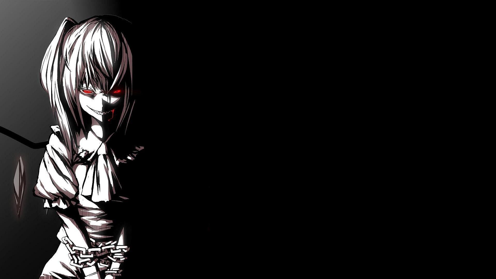 dark, Anime, Touhou, Flandre Scarlet Wallpaper