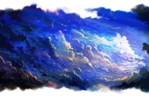 anime, Sky, Clouds, Artwork