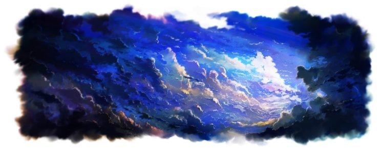 anime, Sky, Clouds, Artwork HD Wallpaper Desktop Background