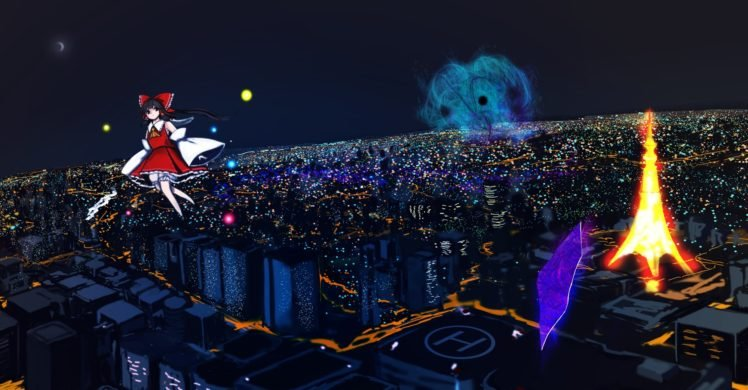 anime, Touhou, Hakurei Reimu HD Wallpaper Desktop Background