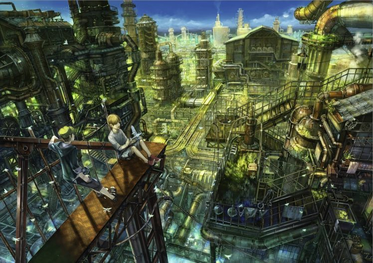anime, Industrial HD Wallpaper Desktop Background