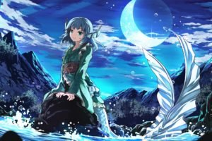 anime, Anime girls, Mermaids, Touhou, Wakasagihime
