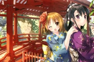 anime girls, Anime, Kantoku, Original characters, Kimono, Traditional clothing