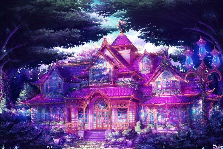 anime, Mansions HD Wallpaper Desktop Background