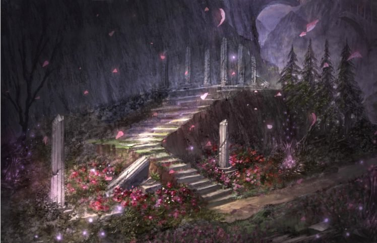 fantasy art, Stairs HD Wallpaper Desktop Background