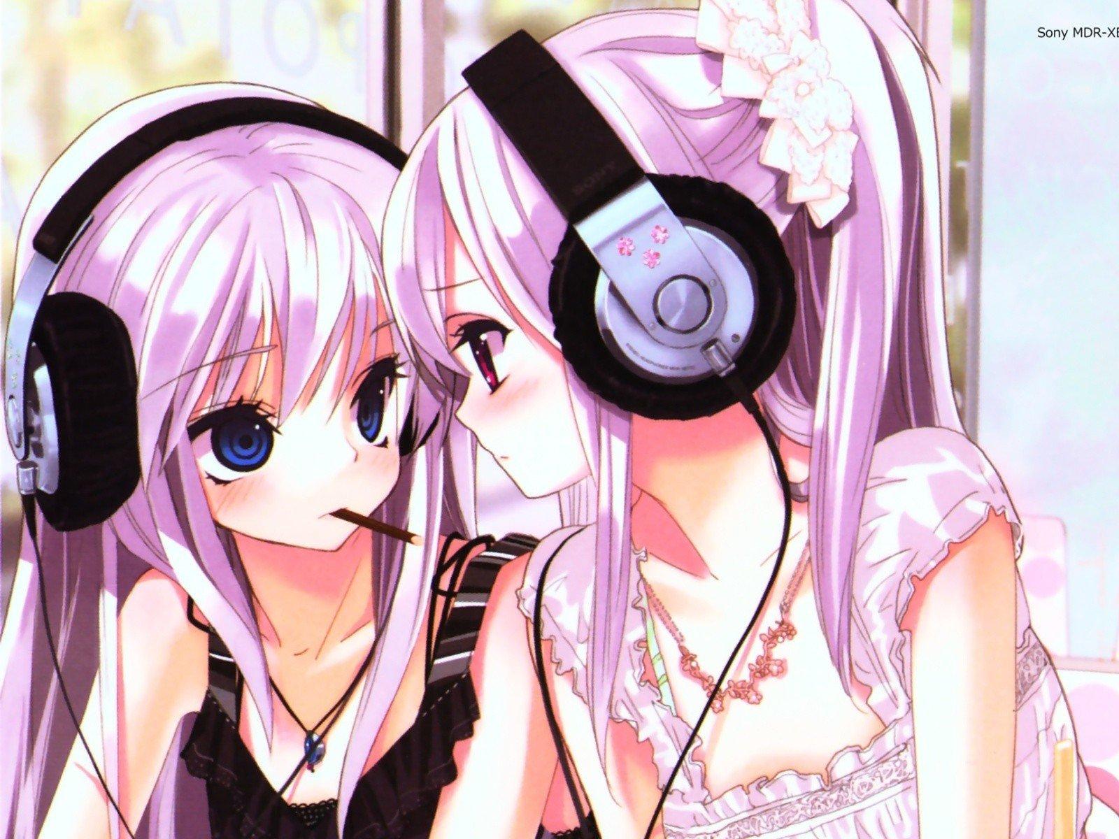 Manga Anime Anime Girls Twins Hd Wallpapers Desktop