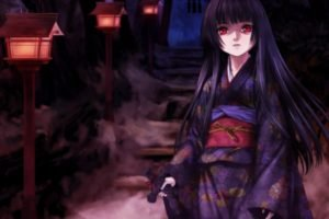 anime, Anime girls, Jigoku Shoujo, Enma Ai