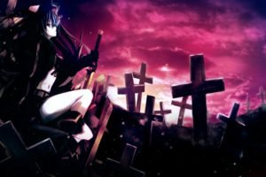 anime, Anime girls, Black Rock Shooter