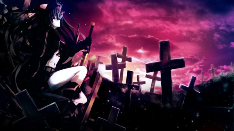 anime, Anime girls, Black Rock Shooter HD Wallpaper Desktop Background